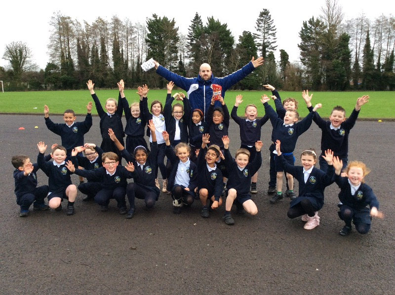 Damien after his last session with the Primary 3's